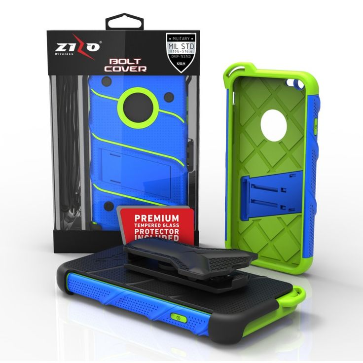 Mil Spec but not waterproof Zizo Bolt iPhone SE / 5 / 5S / 5G / 5C Case Glass Tempered Screen Holster Armor