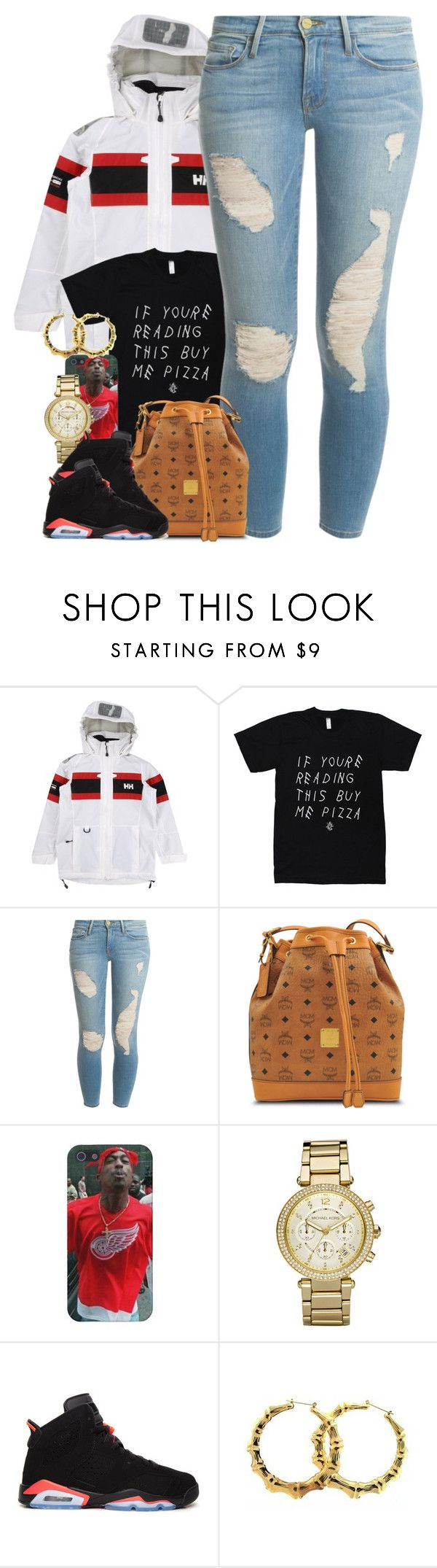 """Untitled #1442"" by power-beauty ❤ liked on Polyvore featuring Helly Hansen, Frame Denim, MCM, Michael Kors, Retrò and Fergie"