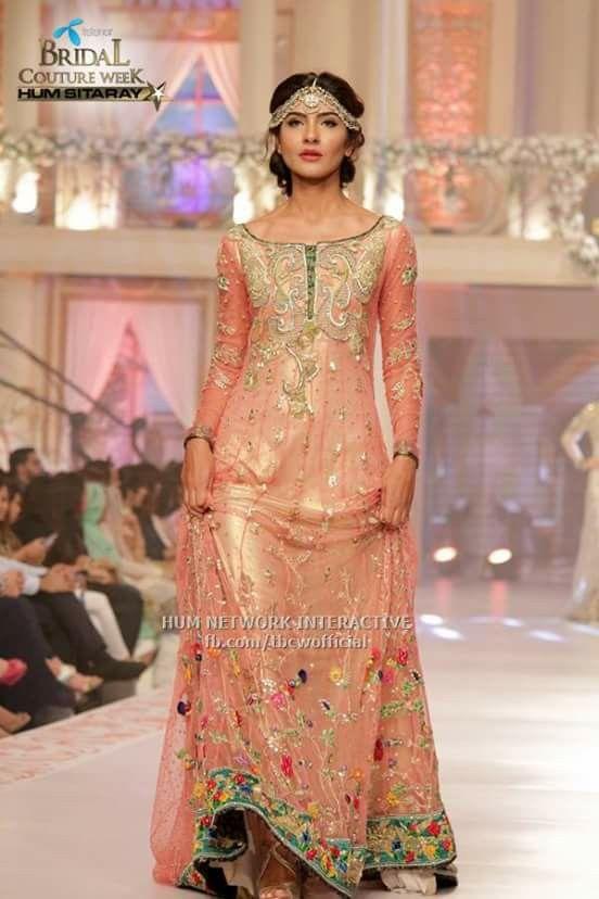 #,Tabusum mughal dress #pakistani designer on pentene #bridal coutour week #2015june pinned by #sidra younas