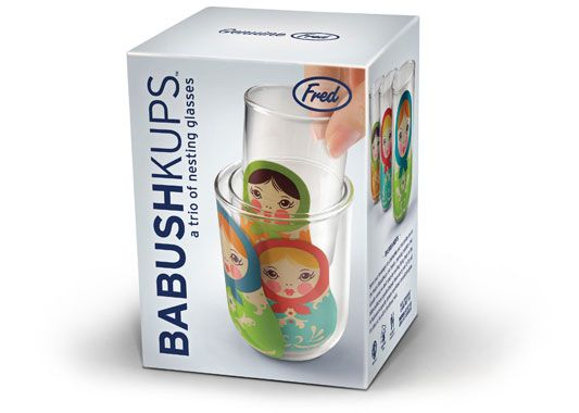 Fred And Friends Babushkups Nesting Glasses