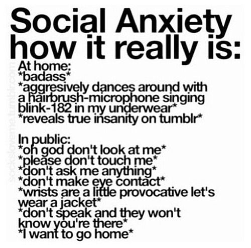 Describing #socialanxiety in graphics. (Caution: Some entries contain language NSFW.)