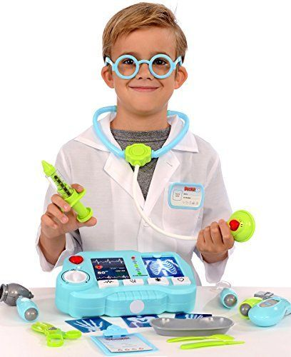 Kangaroo's 19 Pc Pretend Doctor Kit with Light Up X-Ray M