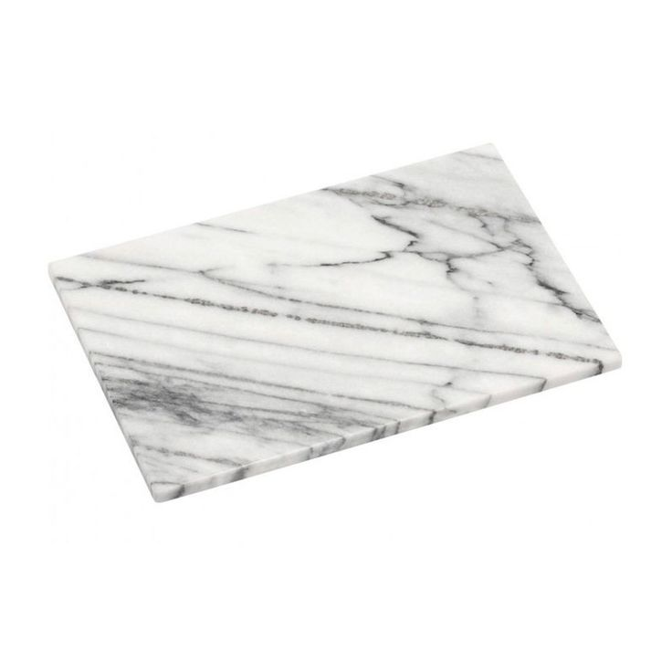 Planche À Découper Rectangulaire En Marbre Blanc – 30.5x20cm – Taille : Taille Unique