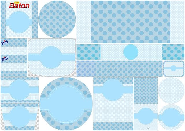 Light Blue and Polka Dots: First Communion Free Printable Candy Bar Labels.