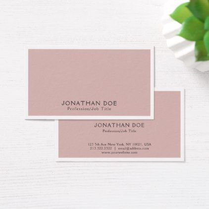 Elegant Color Modern Professional Simple Plain Business Card - stylist business card business cards cyo stylists customize personalize