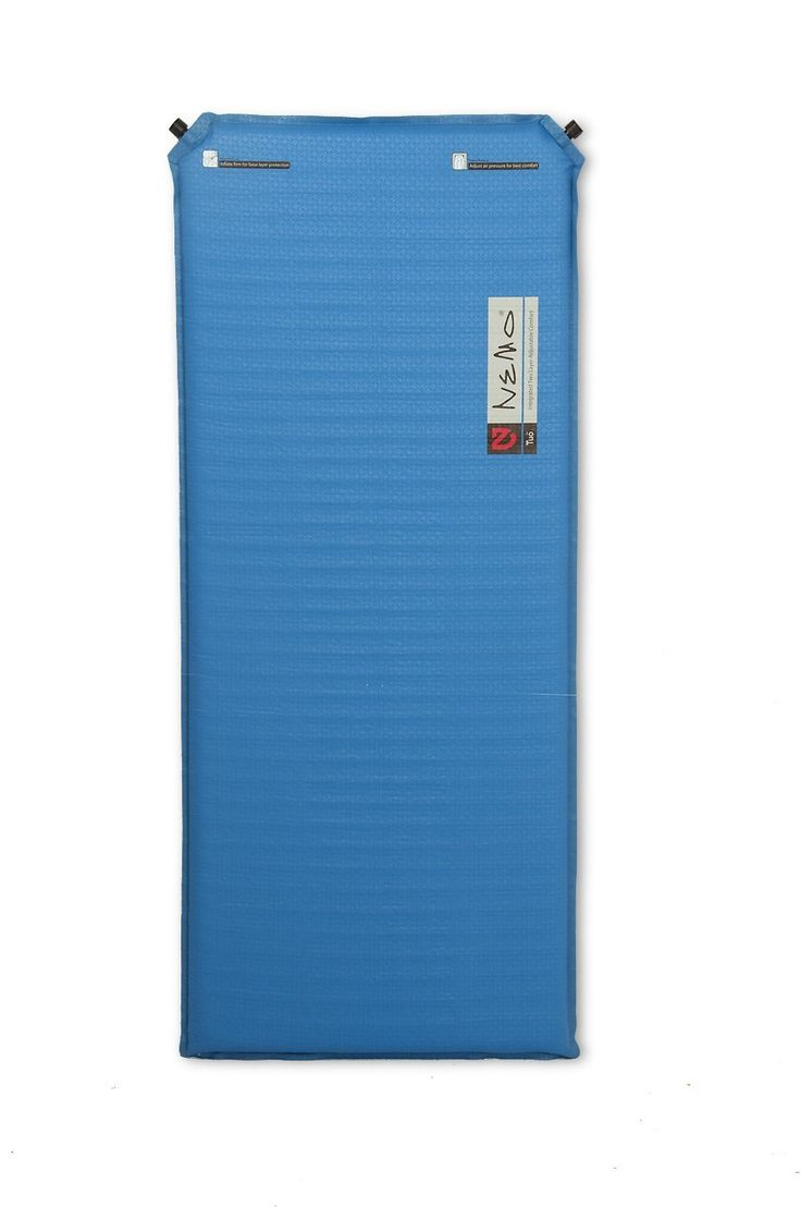 Nemo Equipment 2011 Tuo Cub Sleeping Pad (Blue). Inflatable sleeping pad with thin interior film. Separates pad into 2 separate airtight levels. Gives pad complete redundancy in event of puncture. Base layer inflates firm for protection from rocks and roots. Measures 48 inches long by 20 inches wide; weighs 1.9 pounds.