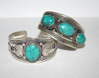 Bracciale turchese Boho bracciale Bracciale in argento