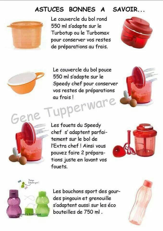 Tupperware - Astuces bonnes à savoir