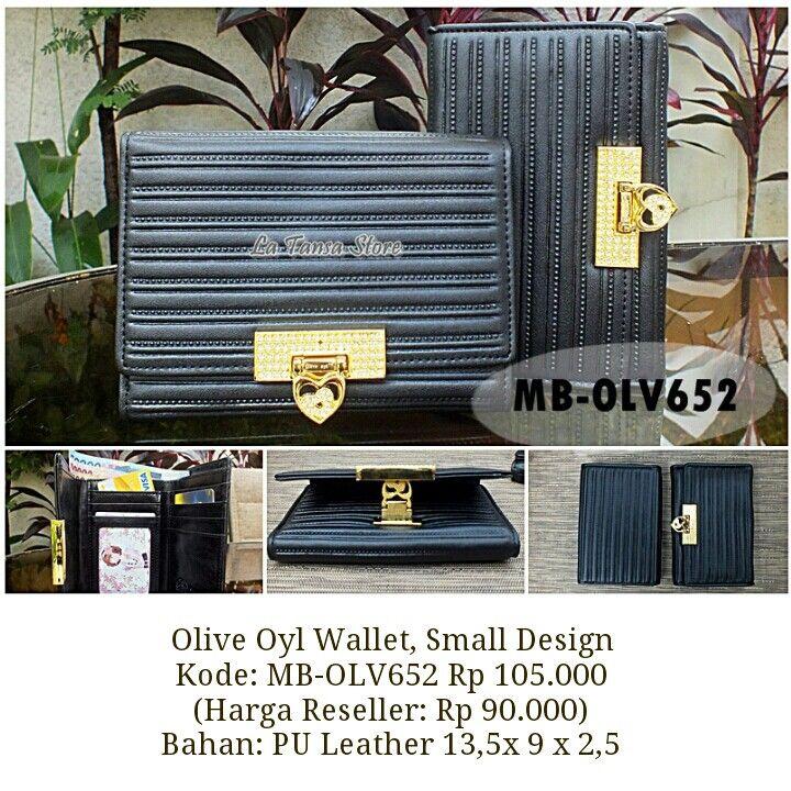 Olive Oyl Wallet, Small Design Kode: MB-OLV652 Rp 105.000 (Harga Reseller: Rp 90.000) Bahan: PU Leather 13,5x 9 x 1,5 Berat: +- 200 g Interior: 5 slot kartu 1 tempat uang kertas 3 ruang ekstra