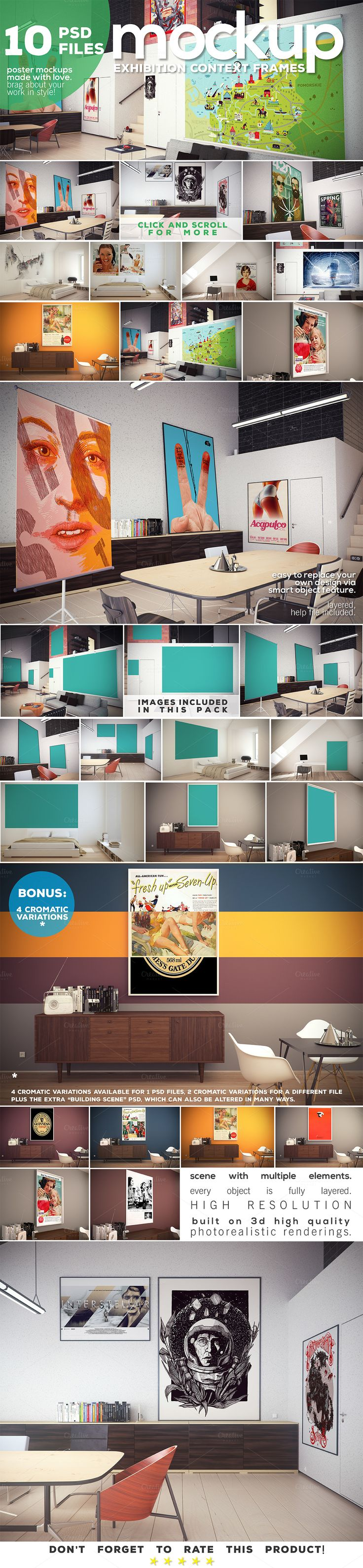 Poster Mockup vol.2 - Context Frames by DESIGNbook on Creative Market