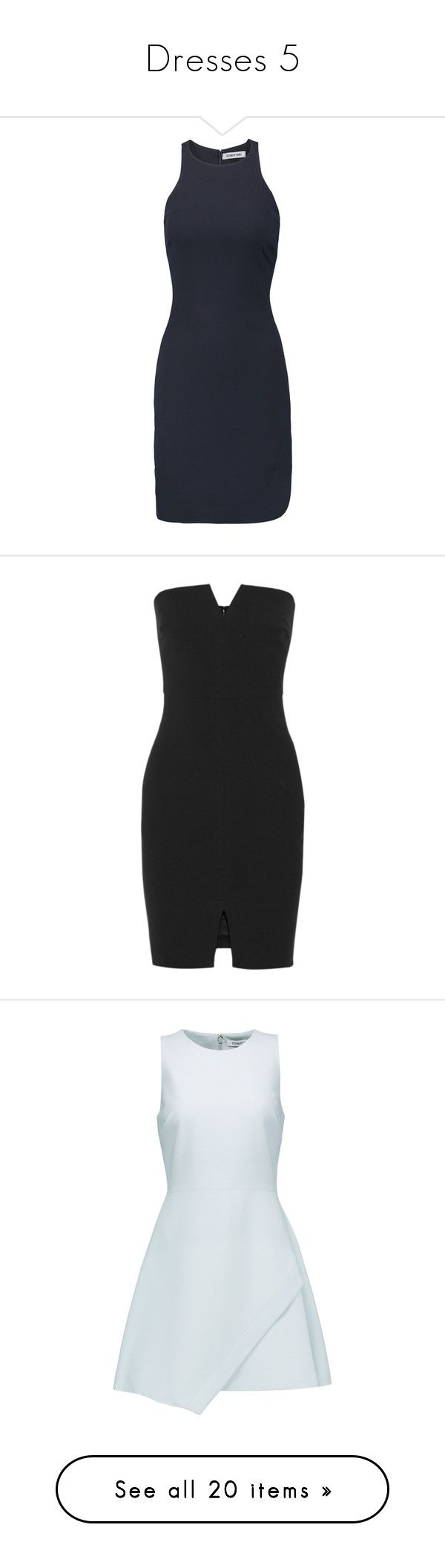 """""""Dresses 5"""" by vampirekitty34 ❤ liked on Polyvore featuring dresses, midnight blue, fitted dresses, boyfriend dress, fitted wrap dress, short dresses, slouchy dress, black, chiffon dresses and front slit dress"""