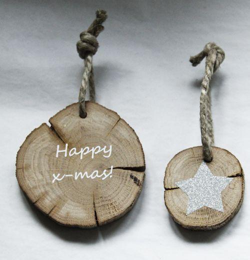 Kersthangers van boomstam - Atelier Kamer26