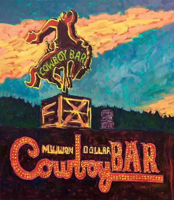 Million Dollar Cowboy Bar Art Print Jackson Hole Wyoming