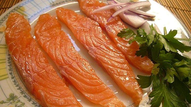 Как засолить Семгу Лосось красную рыбу дома Вкусно Быстро