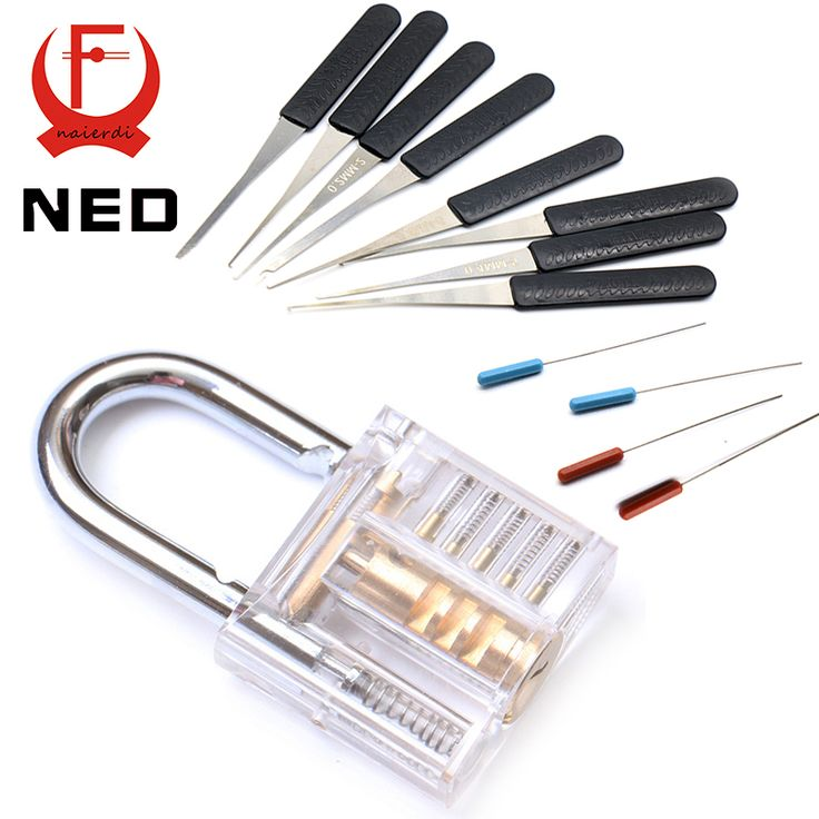 NED Mini Transparent Visible Pick Cutaway Practice Padlock Lock With Broken Key Removing Hooks Lock Extractor Set Locksmith Tool♦️ B E S T Online Marketplace - SaleVenue ♦️👉🏿 http://www.salevenue.co.uk/products/ned-mini-transparent-visible-pick-cutaway-practice-padlock-lock-with-broken-key-removing-hooks-lock-extractor-set-locksmith-tool/ US $8.39