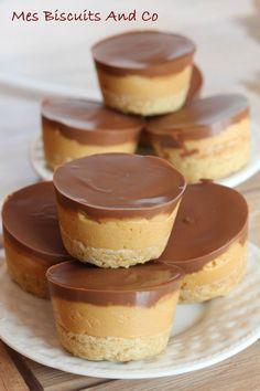 Mini gateau chocolat caramel