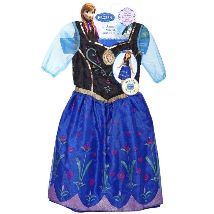 Disney Frozen Anna verkleedjurk met licht en muziek