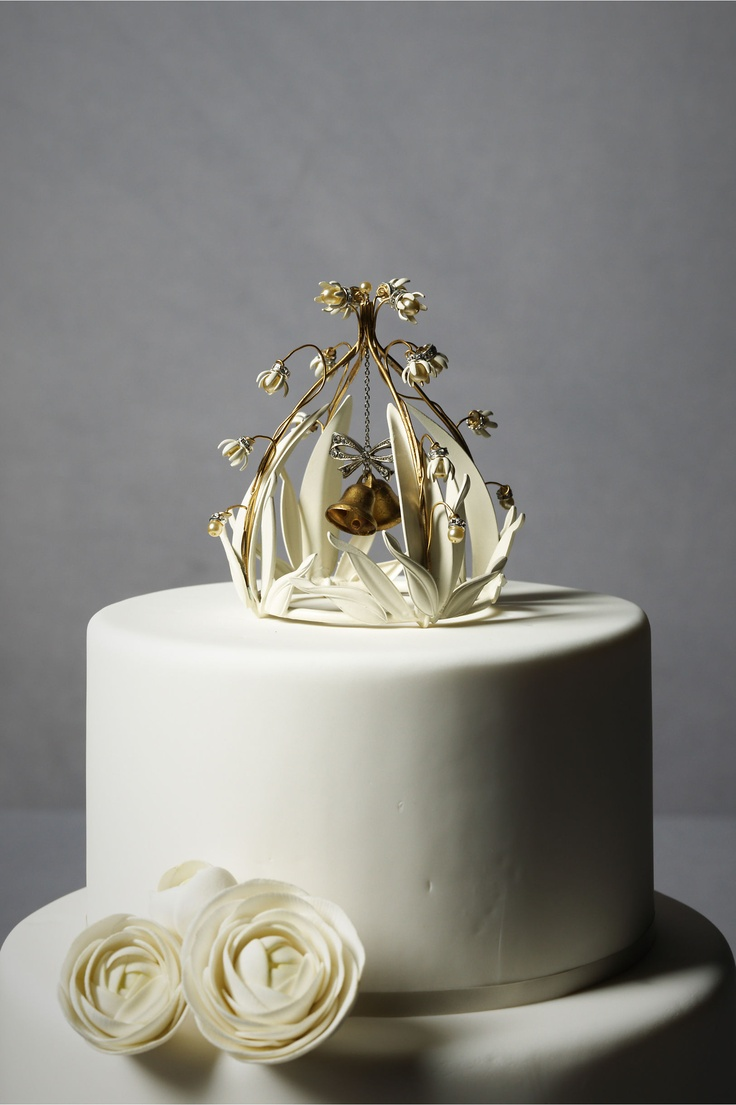 Wedding cake ornaments - Crystal Cloche Cake Topper From Bhldn