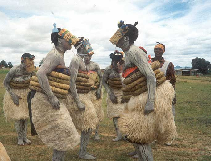 Africa | Initiation school for young girls.  Lesotho | ©Transformation Resource Centre (Mr. Chuck and Mr David Linn)