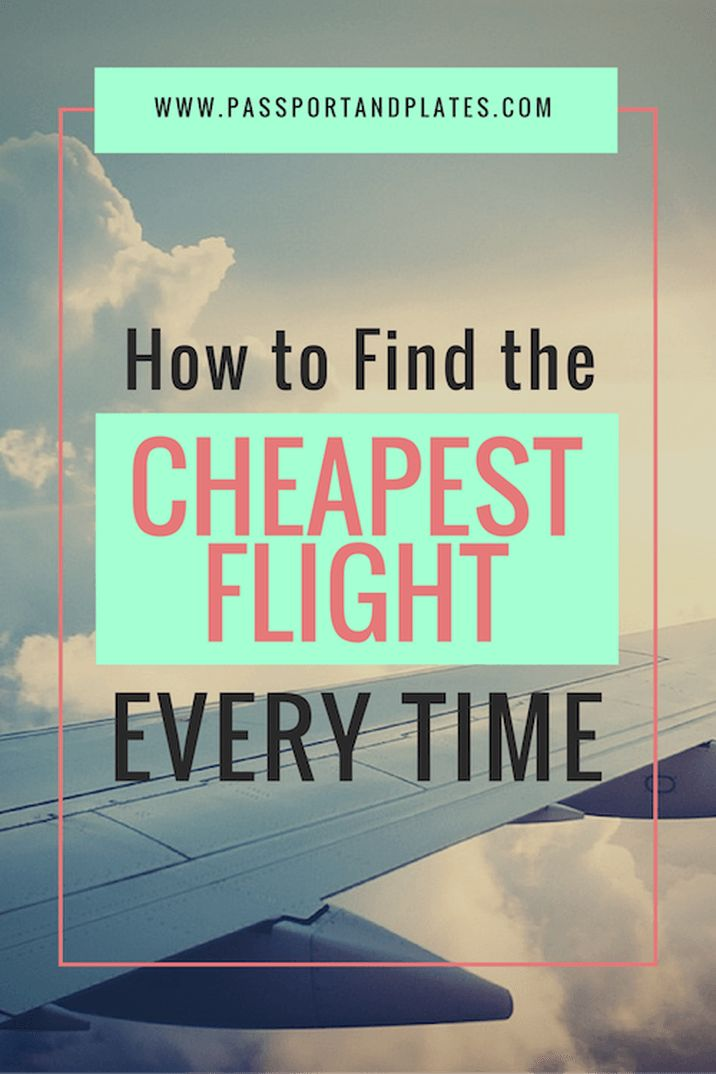 Check out these hidden tricks to help you find the cheapest flights, no matter what the destination!   http://passportandplates.com
