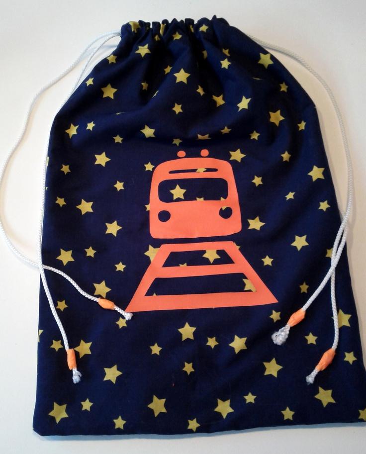 Grote zak voor de houten treinrails  Gemaakt met flexfolie van MaMarieke