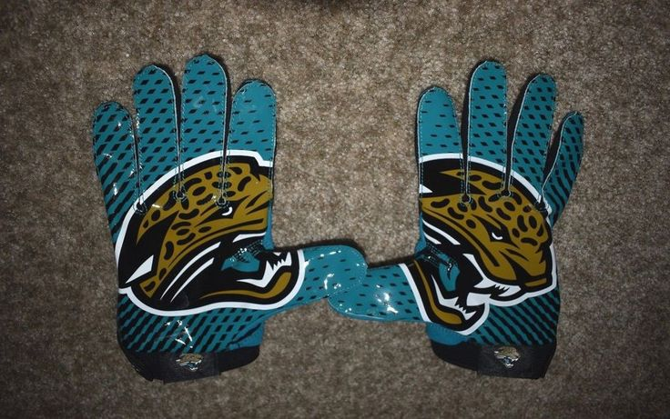 Nike Vapor Jet 2.0 Lock Up NFL Jacksonville Jaguars Receivers Football Gloves XL #Nike