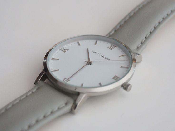 Contemporary Female Grey classic silver Watch