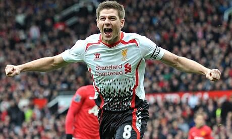 Stevie Gerrard leads the #LFC title charge at Old Trafford!