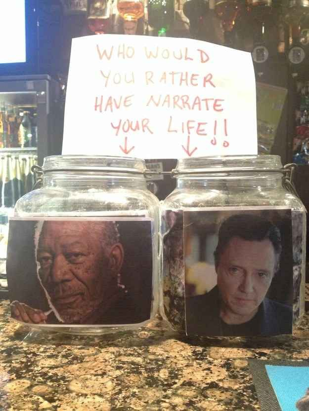 This impossible decision. | 27 Tip Jars That Are Too Clever To Resist
