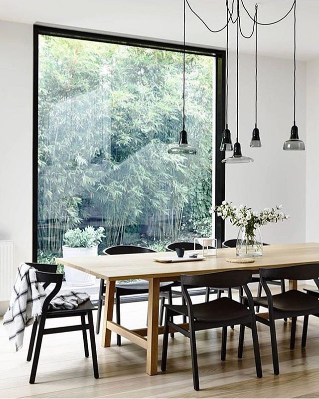 Obsessing over this window and lift installation! Image via @dotandpop…