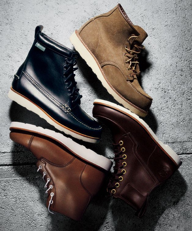 """The secret to finding a winter-ready, office-proper boot that doesn't look like you stole it from a longshoreman? That flashy white sole"" Read More http://www.gq.com/style/wear-it-now/201110/best-mens-white-sole-boots#ixzz1mFt0Q3Lv"
