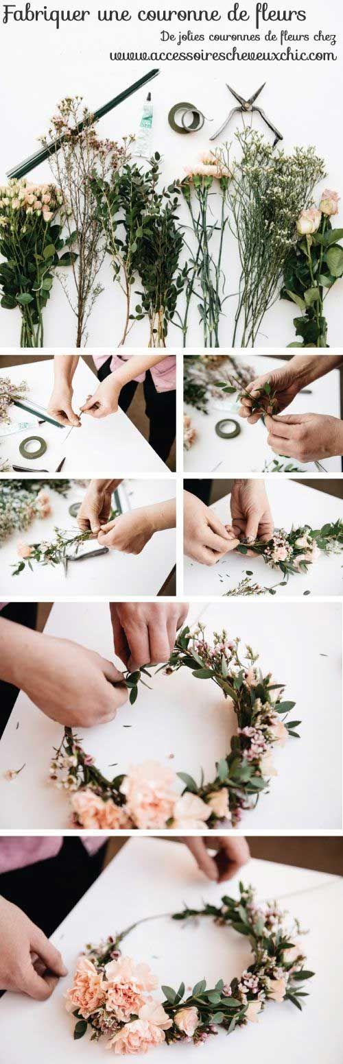 #tutoriel pour fabriquer soi-même sa couronne de fleurs