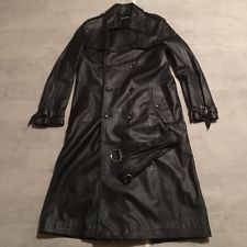RARE RAF SIMONS 01/02AW Leather Trench Coat Men's Jacket  Outerwear Size S
