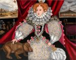 Elizabeth I liked to pose nicely when a big event happened around her. like a mass extinction event caused by a comet impact. OH YEAH.