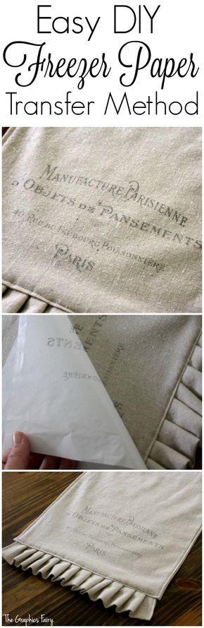 Méthode de transfert de papier Congélateur facile DIY - The Fairy Graphics