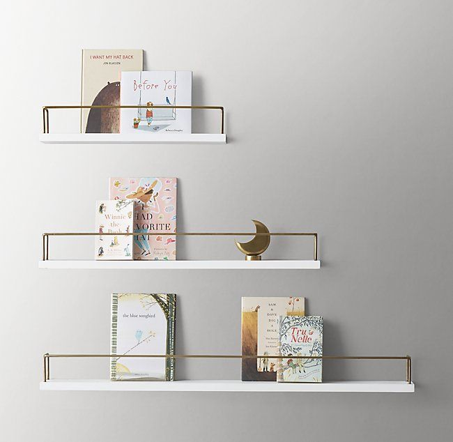 Minimalist Book Display Shelf Waxed White Brass Book Display Shelf Minimalist Book Book Display