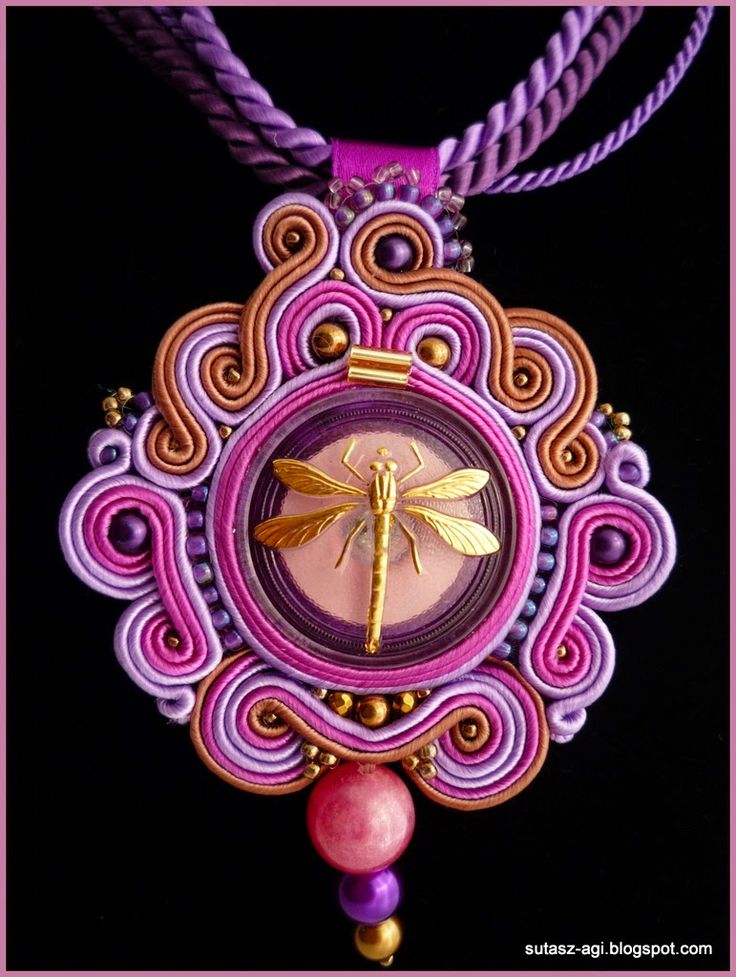 AGGIE Soutache: Fioletove LOVE