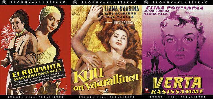 SF-Elokuvaklassikot, 7 €. Poiminta parhaita Suomi-Filmi klassikoita. Norm. 12 €. Filmihullu-leffakauppa, Sähkötalo 1. KRS
