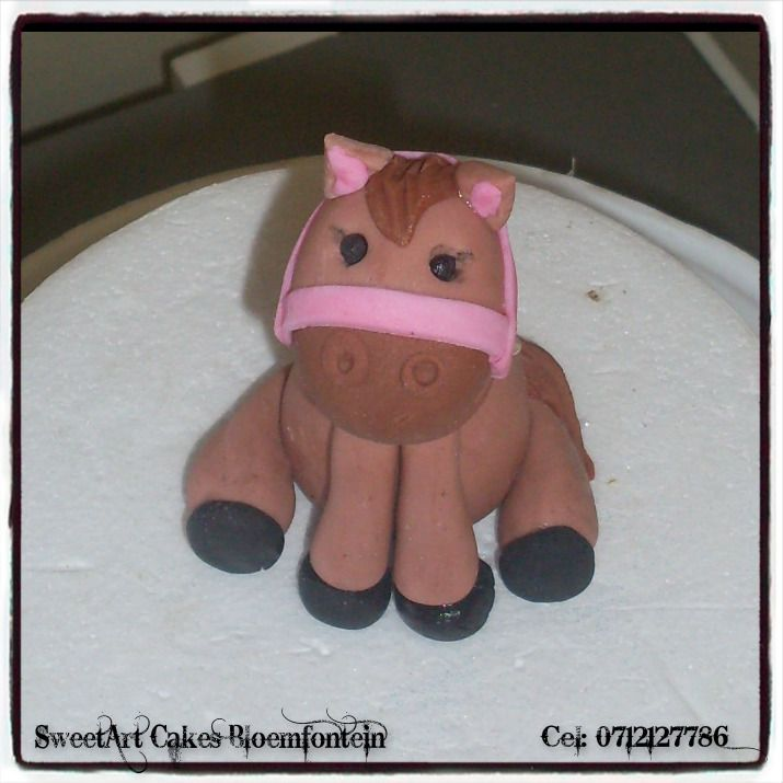 FONDANT HORSE For more info  & orders, email SweetArtBfn@gmail.com or call 0712127786. Connect with us on Facebook:  https://www.facebook.com/SweetArtCakesBfn