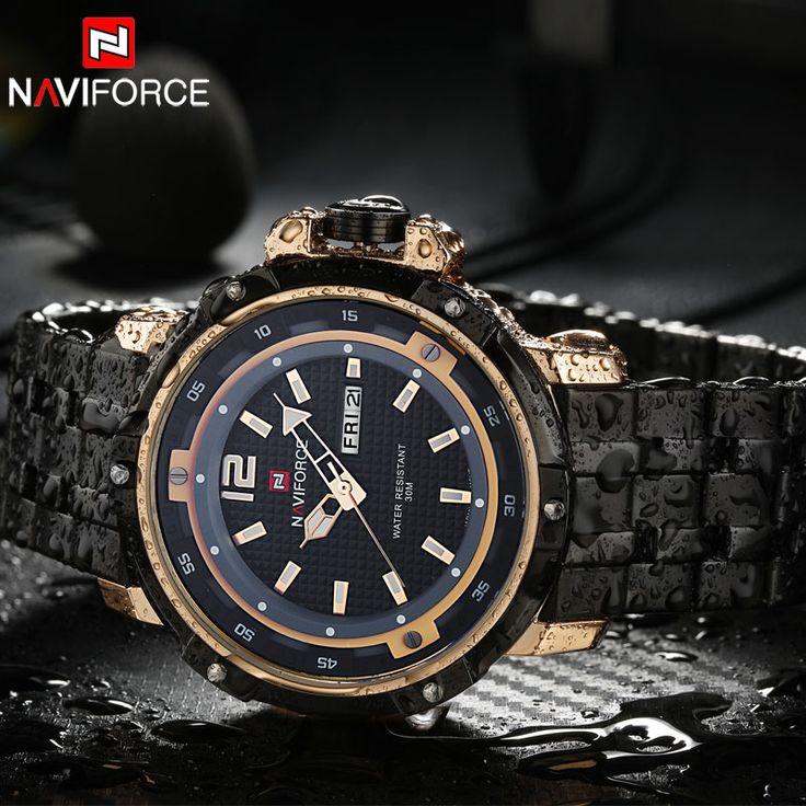 Homens relógios desportivos NAVIFORCE homens de marca de luxo de quartzo relógio de aço banda quente relógios de pulso para homens 30M impermeável relogio masculino