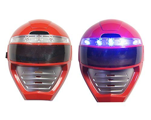 aiyue  light  up  Power  Rangers  mask  unique  kids  dress  up  role  play  cosplay  costume  pretend  play  Power  Rangers  red  Power  Ranger  universal  size  light  up  led  mask