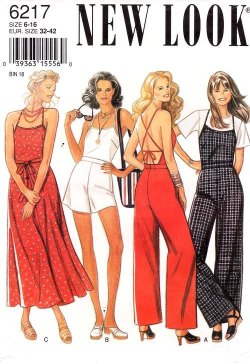 90's New Look Jumpsuit Pattern 6217 Misses' by ThePatternSource, $24.00