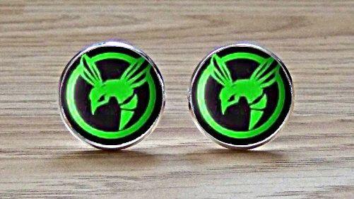 Green Hornet Superhero Cufflinks by CuffsDirect on Etsy, £10.99