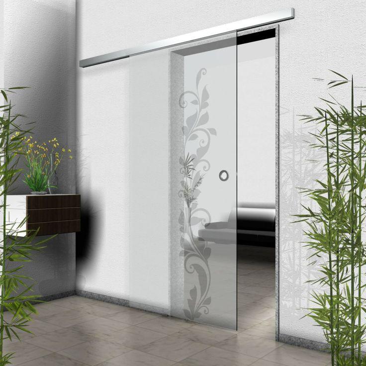 Floral Glass Room Divider