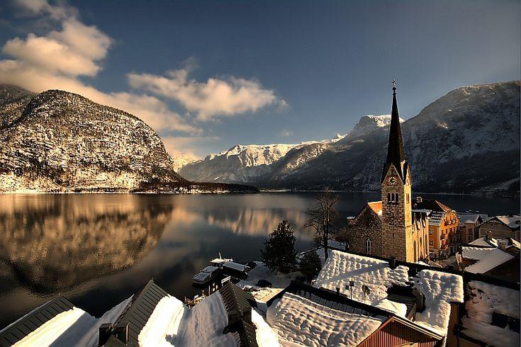 Hallstatt Austria Winter - GPS 47.5590633,13.6465501