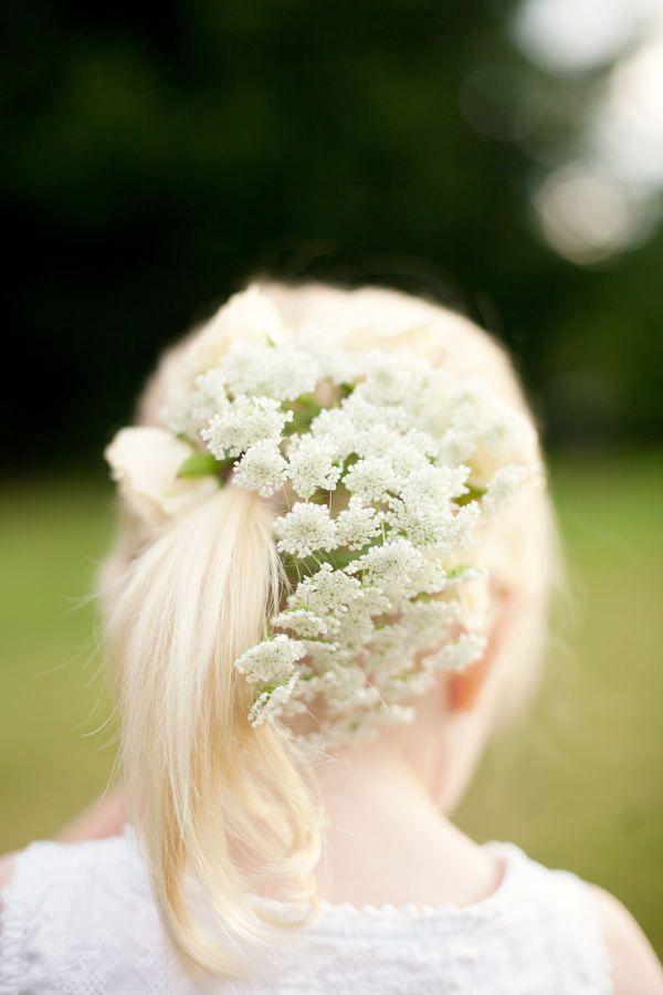 flowergirl hairstyle.