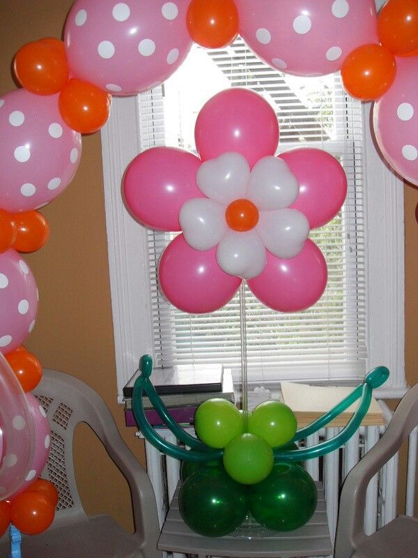 Balloon flower centerpiece tinkerbell bday pinterest