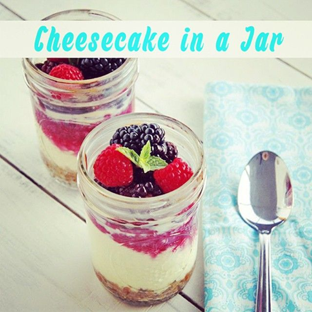 Forget ice-cream for dessert - try out this delicious recipe for Cheesecake in a Jar!