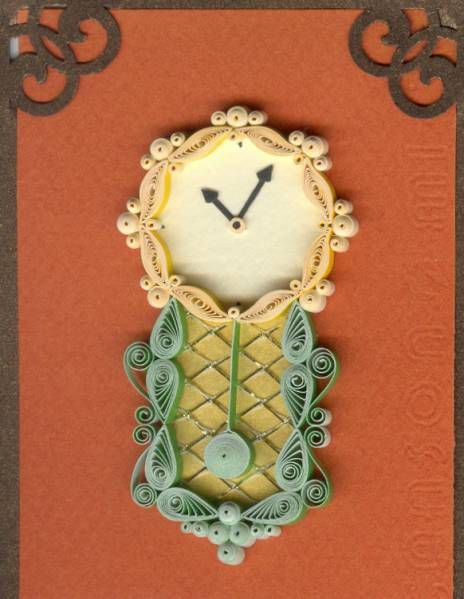 Wall Clock - Quilled Creations Quilling GalleryPaper Quilling, Quilling Creations, Filigrana Quiling, Quilling Gallery, 3D Quilling, Quilling Clocks, Wall Clocks, Creations Quilling, Clocks Watches