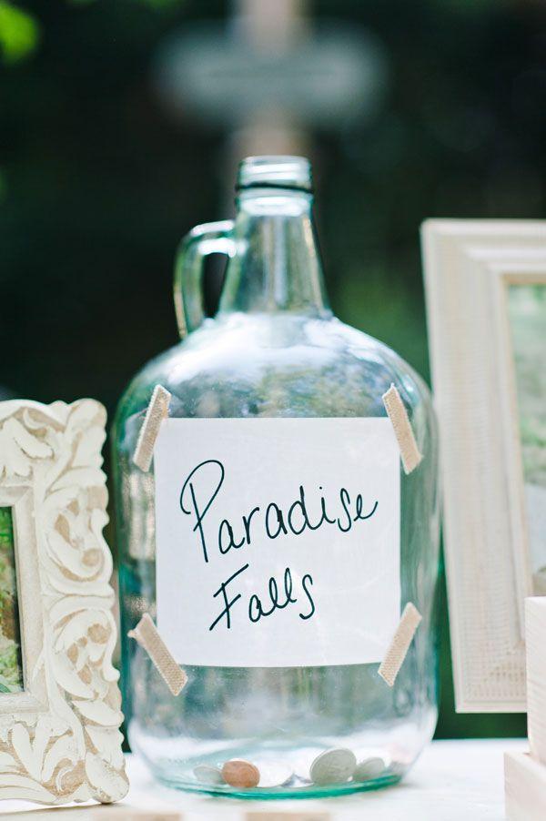 UP Paradise Falls Fund Jar (AKA Honeymoon Fund Jar) for a reception table!